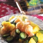 菠蘿炒蝦球